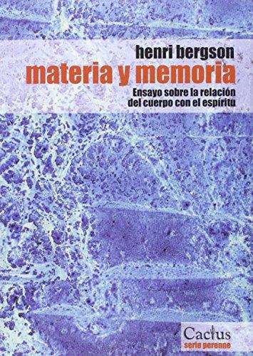 9789872100049: MATERIA Y MEMORIA (Spanish Edition)