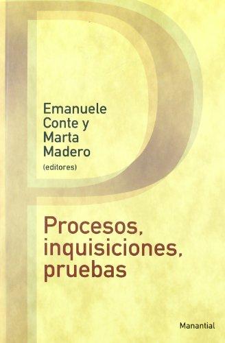 9789875001251: Procesos Inquisiciones Pruebas