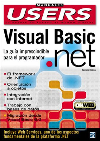 9789875261129: Visual Basic .NET Manual del Programador: Manuales Users, en Espanol / Spanish (Spanish Edition)