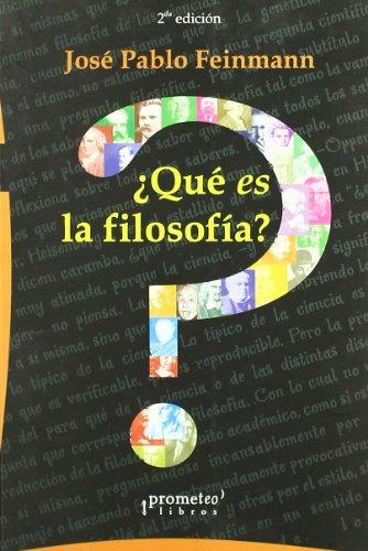 9789875740884: Que Es La Filosofia? (Spanish Edition)