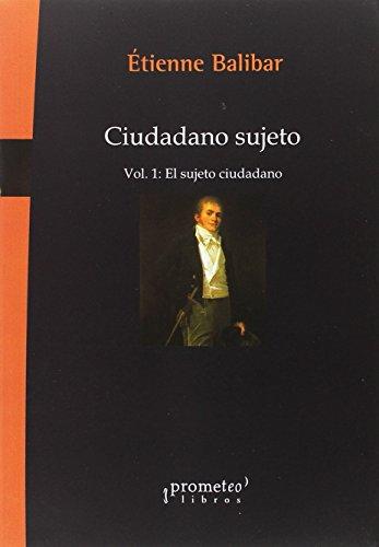 9789875745872: Ciudadano sujeto