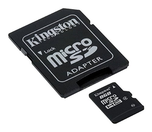 9789876143967: Professional Kingston 8GB MicroSDHC Card for i-mobile Hitz222 with custom formatting and Standard SD Adapter! (Class 4)