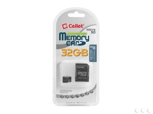 9789876275781: Cellet 32GB HTC Wildfire Micro SDHC Card is Custom Formatted for digital high speed, lossless recording! Includes Standard SD Adapter.