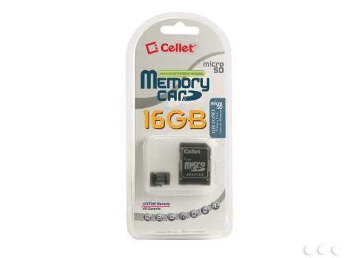 9789876460613: Cellet 16GB LG GT350 Micro SDHC Card is Custom Formatted for digital high speed, lossless recording! Includes Standard SD Adapter.