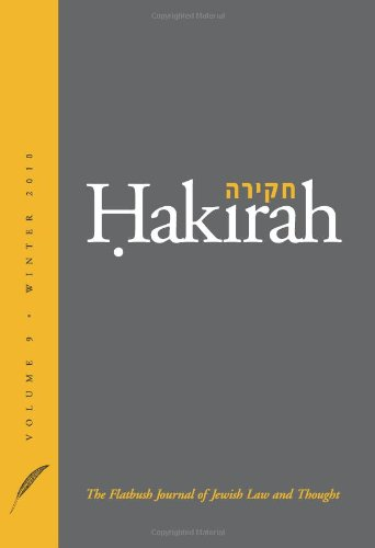 Hakirah Volume 9 / Winter 2010 (The Flatbush Journal of Jewish Law and Thought)