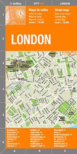 9789879445617 London City Center Map by deDios City Map