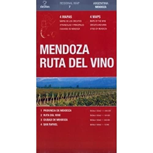 9789879445747: Mendoza Ruta del Vino by deDios (Regional Map) (Spanish Edition)
