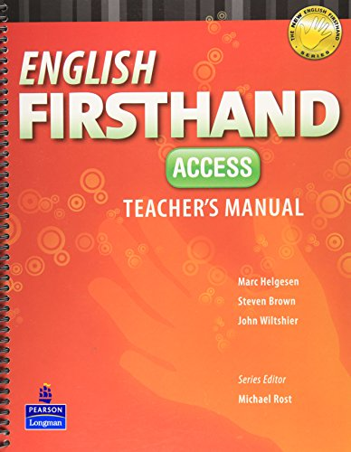 9789880030611: English Firsthand Access Teacher's Manual with CD-ROM (4th Edition)