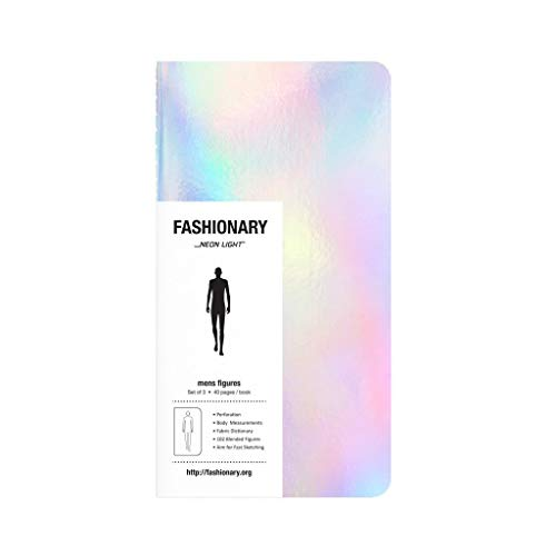 9789881655004: Fashionary Mini Neon Light Mens Sketchbook A6 (Set of 3)