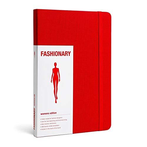 Fashionary Red Womens Sketchbook A5: FASHIONARY