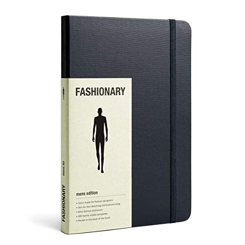 Fashionary Mens Sketchbook A5 9789881831026 The name FASHIONARY comes from Fashion + Dictionary + Diary. This sketchbook is combined with extensive fashion information and blended figure templates. It is the perfect tool for brainstorming, fast sketching and quick referencing. Unlike the traditional templates, the blended templates are formed by dotted line and are barely visible; you can draw on the templates pages like you do on blank papers.