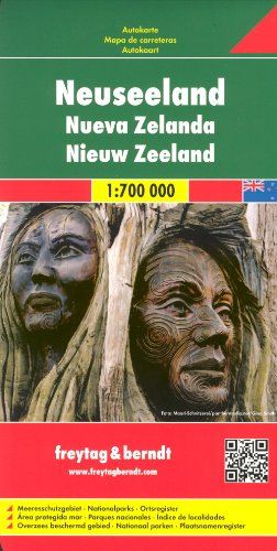 9789886403761: New Zealand 1:700 000 Travel Map & Wellington plan by FREYTAG