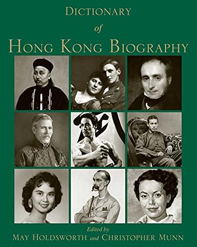 Dictionary of Hong Kong Biography: Hong Kong University Press