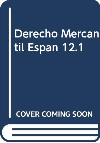 Derecho Mercantil Espan 12.1 (Paperback)