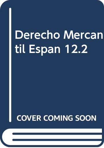 Derecho Mercantil Espan 12.2 (Paperback)