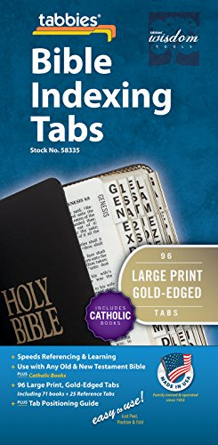 9789900493358: Large Print Bible Indexing Tabs Including Catholic Books [With Booklet]