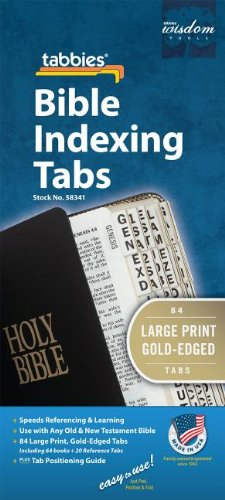 9789900493419: Bible Tab: Clear Tab with Gold Strip with Black Lettering in 24pt Font