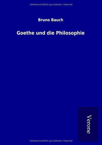 9789925003785: Goethe und die Philosophie