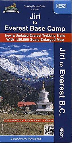 9789937577984: Carte de randonn�e NE521 Jiri a Namche & Namche aux Camp de Base de l'Everest