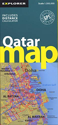 Qatar Country Map: QAT_CYM_1 (Country Maps): Explorer Publishing and Distribution