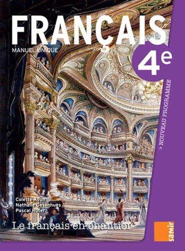 9789953313580: Le français en chantier 4e - Livre (nouveau programme)