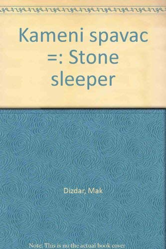 9789958511028: Kameni spavač =: Stone sleeper (Croatian Edition)