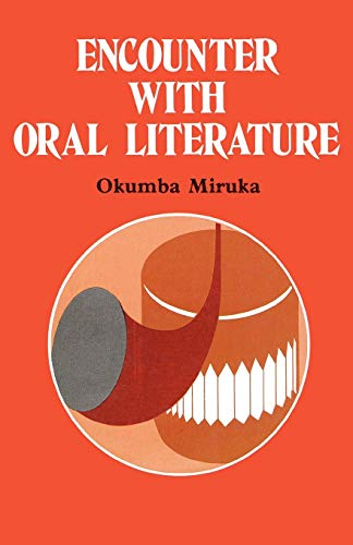 9789966466914: Encounter with Oral Literature