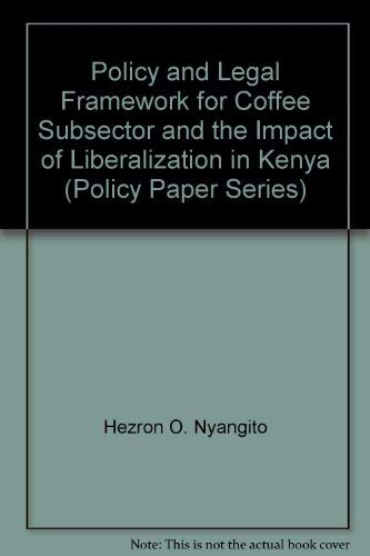 Policy and Legal Framework for Coffee Subsector: n/a