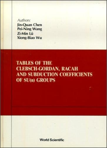 Tables of the Clebsch-Gordan, Racah and Subduction Coefficients of Sun Groups: Wu, XIONG-BAO; Lu, ...
