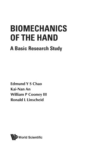 Biomechanics Of The Hand: A Basic Research Study: Chao, E.Y.S