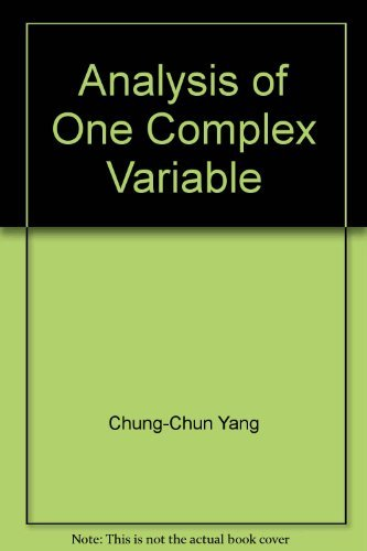Analysis of One Complex Variable. Proceedings of the American Mathematical Society 821st Wyoming ...