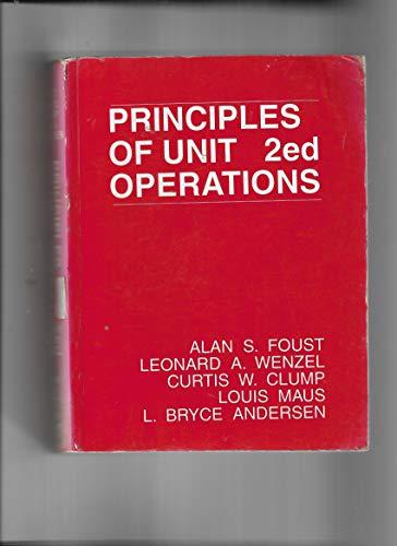 9789971511838: Principles Of Unit Operations