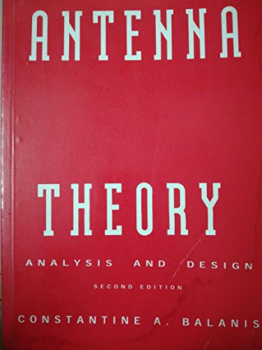 9789971512330: Antenna Theory Analysis & Design. Second Edition
