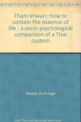 9789971690489: Tham khwan: How to contain the essence of life : a socio-psychological comparison of a Thai custom
