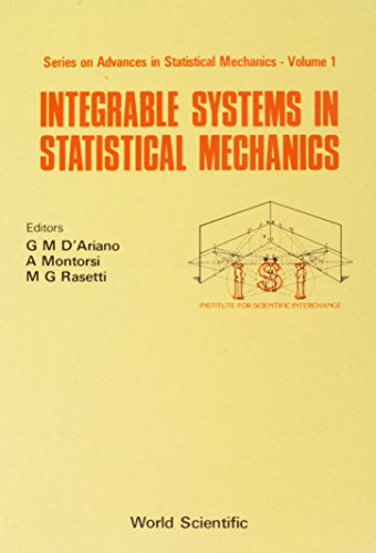 9789971978143: Integrable Systems in Statistical Mechanics (Series on Advances in Statistical Mechanics : Volume 1)