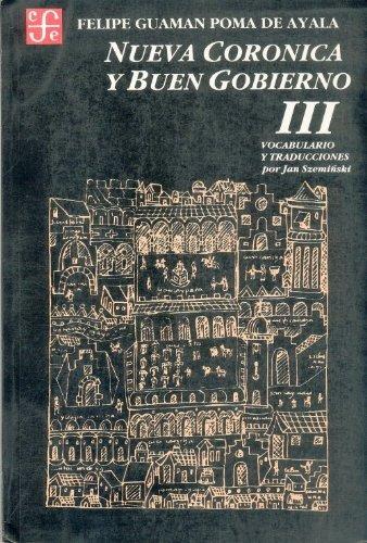 9789972663475: 3: Nueva Coronica y buen gobierno, tomo III (Historia) (Spanish Edition)