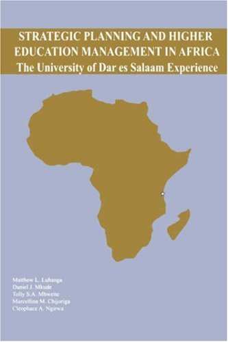 9789976603958: Strategic Planning and Higher Education Management in Africa. The University of Dar es Salaam Experience