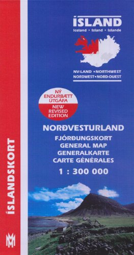 9789979317609: Island. Nordwest 1 : 300 000: Generalkarte: North West (Maps of Iceland)