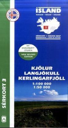 9789979330349: Island Serkort 03 Kjölur - Langjökull - Kerlingarfjöll 1 : 100 000 / 1 : 50 000
