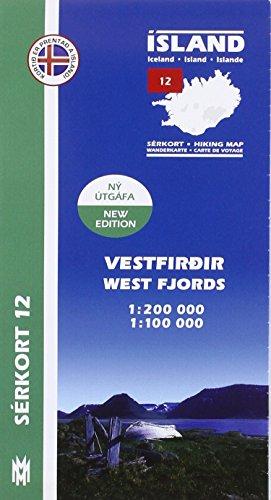 9789979331162: Island Serkort 12 Vestfirdir 1 : 100 000
