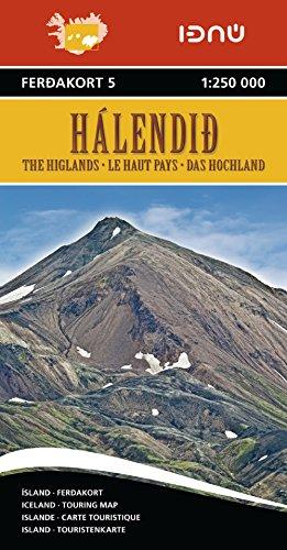 9789979673750: Islande-le Haut Pays 5 1/250.000