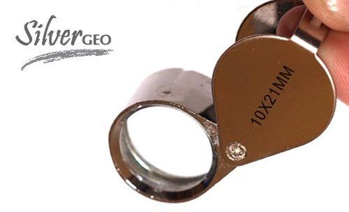 9789980455109: Silvergeotm 10Pocket Magnifying Glass Magnifier (Handheld)