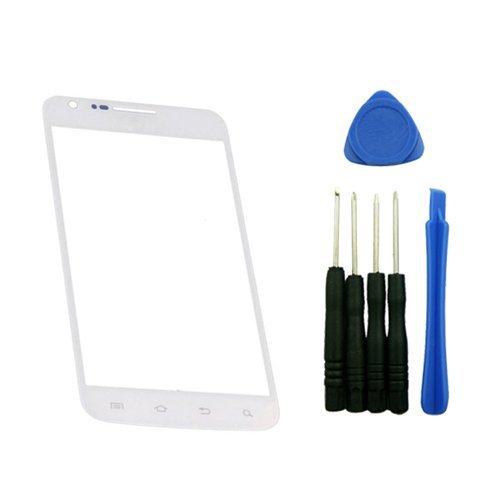 9789984579986: Samsung Galaxy S2 S II AT&T Skyrocket SGH-I727 Front Screen Glass Lens Front Outer Lens for Replacement Assembly with Tools White Color