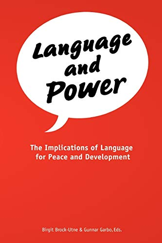 9789987080328: Language and Power. The Implications of Language for Peace and Development