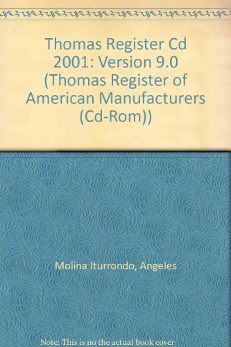 9789990025507: Thomas Register Cd 2001: Version 9.0 (Thomas Register of American Manufacturers (Cd-Rom))