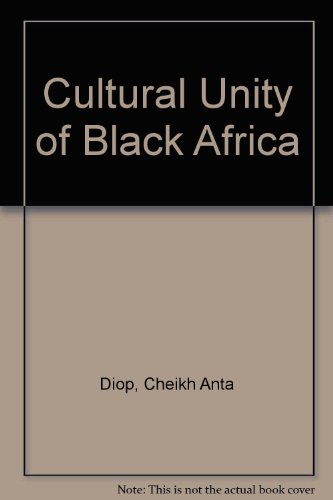 9789990065596: Cultural Unity of Black Africa