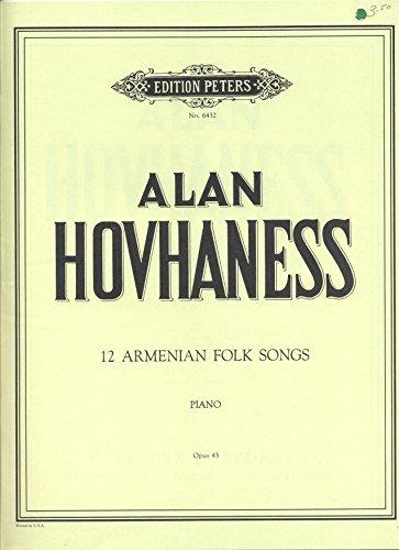 9789990381061: 12 Armenian Folk Songs/Piano