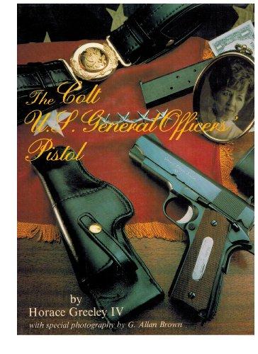 9789990465303: The Colt U.P. General Officers' Pistol