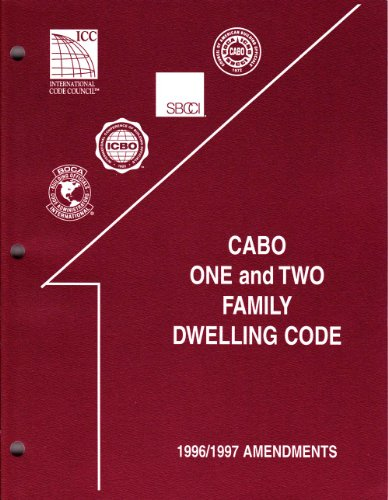 9789990541502: Cabo One and Two Family Dwelling Code: 1996/1997 Amendments (Amendments to the One and Two Family Dwelling Code, 1996-97)