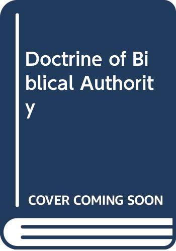 9789990544268: Doctrine of Biblical Authority